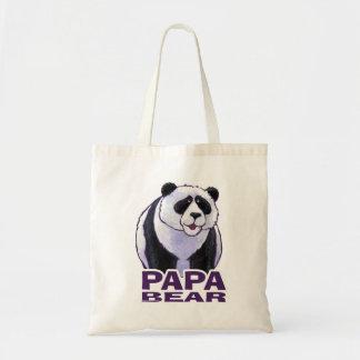 Papa Panda Bear Budget Tote Bag