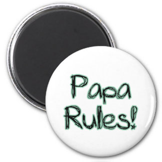 Papa Rules Magnet