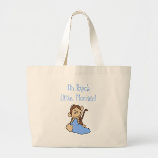 Papa s Little Monkey - Blue Tshirts and Gifts Tote Bag