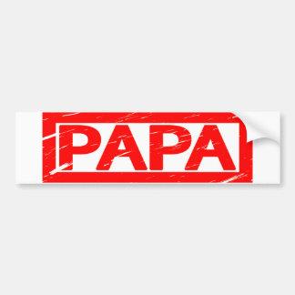 Papa Stamp Bumper Sticker