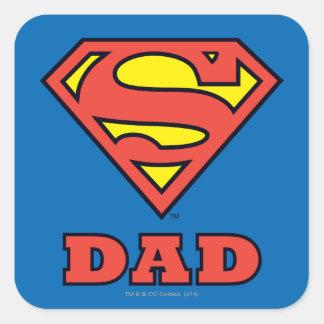 Papa superbe sticker carré