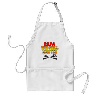 Papa The Grill Master Cool Grandfather Apron
