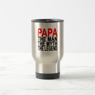 papa the myth the man the legend travel mug