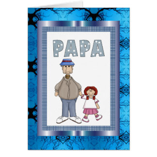 PaPa with Granddaughter Card