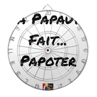 PAPACY MAKES CHATTER - Word games Dartboard