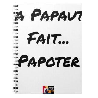 PAPACY MAKES CHATTER - Word games Notebook