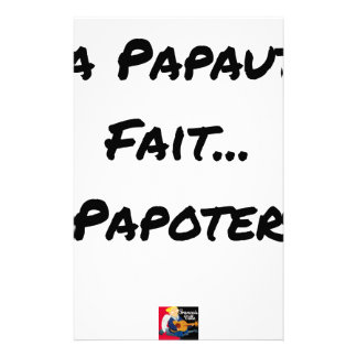 PAPACY MAKES CHATTER - Word games Stationery