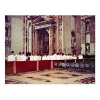 Papal procession of John Paul II inside St Peter's Postcard
