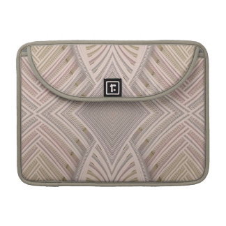 Paparazzi Tan Abstract Pattern Sleeve For MacBook Pro