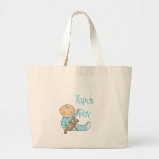 Papa's Boy Jumbo Tote Bag