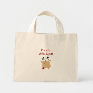 Papa's Dear Papa Deer Christmas Mini Tote Bag