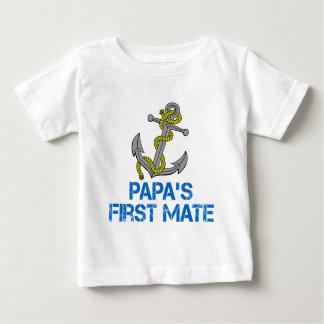 Papa's First Mate Baby T-Shirt