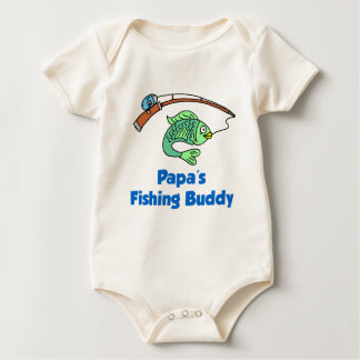 Papa's Fishing Buddy Baby Bodysuit