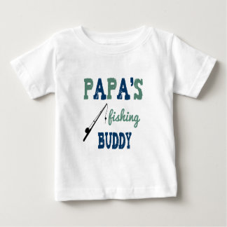 Papa's Fishing Buddy Baby Tee (blue)