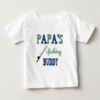 Papa's Fishing Buddy Baby Tee (blue)