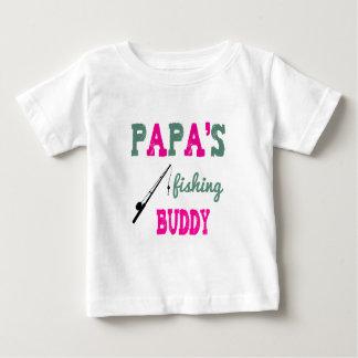 Papa's Fishing Buddy Baby Tee (pink)