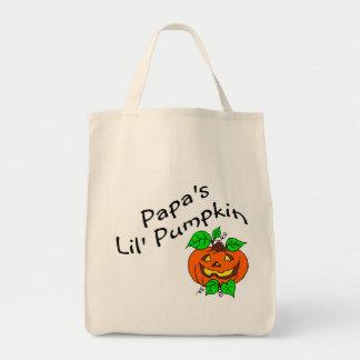 Papas Lil Pumpkin Grocery Tote Bag