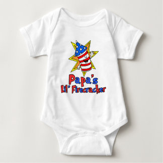 Papa's Little Firecracker Baby Bodysuit