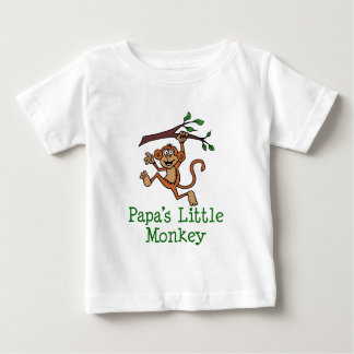 Papa's Little Monkey Baby T-Shirt