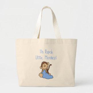 Papa's Little Monkey - Blue Tshirts and Gifts Jumbo Tote Bag