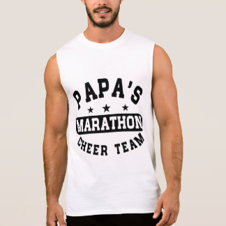 Papa's Marathon Cheer Team Sleeveless Shirt