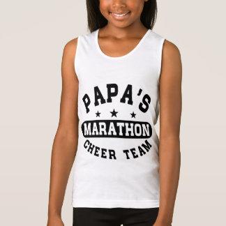 Papa's Marathon Cheer Team Tank Top