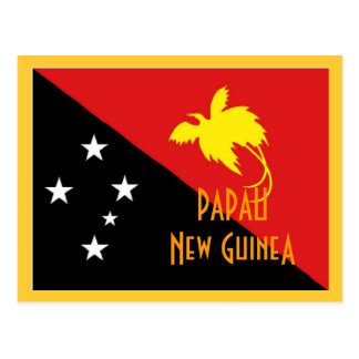 Papau New Guinea flag Postcard