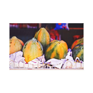 Papaya ~ Caribbean Fruit ~ Canvas Art