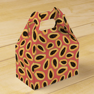 Papaya Fruit Favor Box