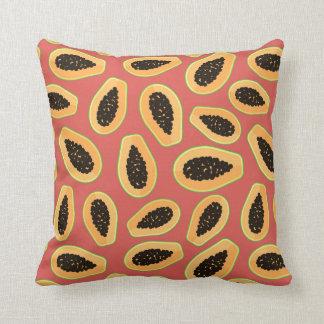 Papaya Fruit Throw Pillow