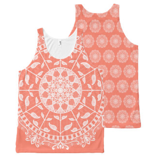 Papaya Mandala All-Over-Print Tank Top