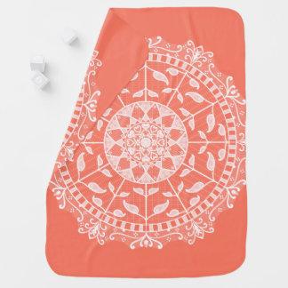 Papaya Mandala Baby Blanket
