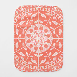 Papaya Mandala Burp Cloth
