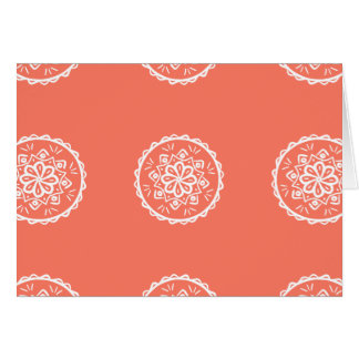 Papaya Mandala Card