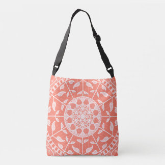 Papaya Mandala Crossbody Bag