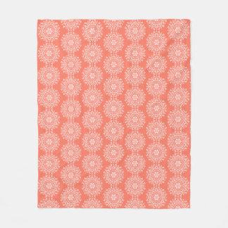 Papaya Mandala Fleece Blanket