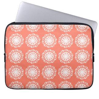 Papaya Mandala Laptop Sleeve