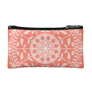 Papaya Mandala Makeup Bag