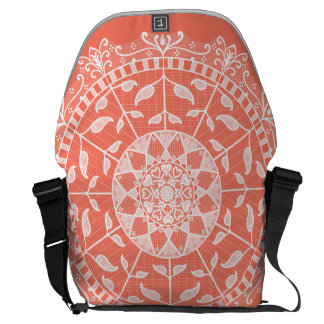 Papaya Mandala Messenger Bag