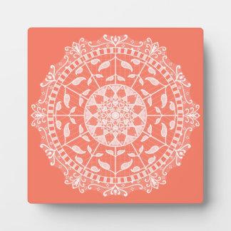 Papaya Mandala Plaque