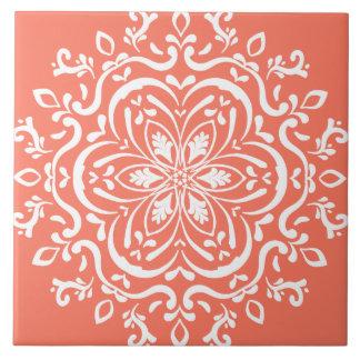 Papaya Mandala Tile