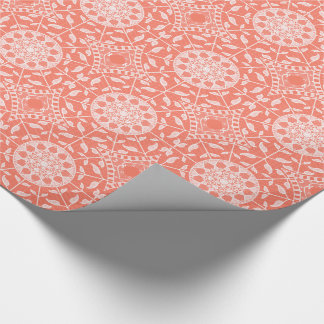 Papaya Mandala Wrapping Paper