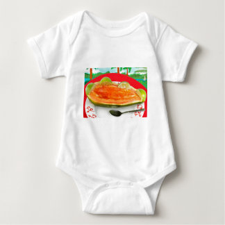 Papaya with Lime with Tropical View Painting Baby Bodysuit