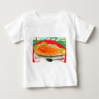 Papaya with Lime with Tropical View Painting Baby T-Shirt