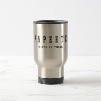 Papeete French Polynesia Travel Mug