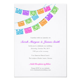 Papel Picado Colourful Wedding Invite