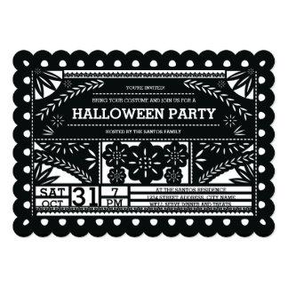 Papel Picado Halloween Party Card
