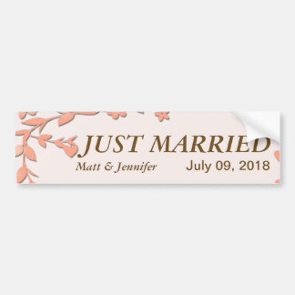 Papel Picado Wedding Invitation - Lovely Doves Bumper Sticker