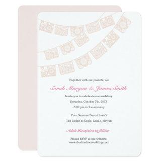 Papel Picado Wedding Party Invite Pink
