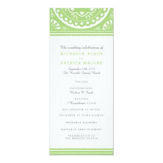 Papel Picado Wedding Program - Green